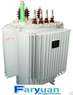 S11-M.RL 3 Phase Distribution Transformer with three-dimensional