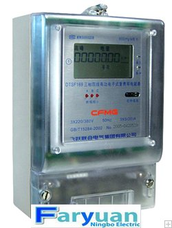 DTS169, DSS169 three-phase electronic active kwh meter