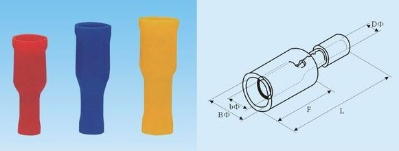 Bullet shaped female insulating joint