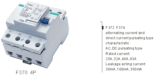 F370 F390 Residual Current Circuit Breaker