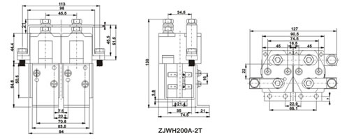 ZJWH200A-2T DC contactor