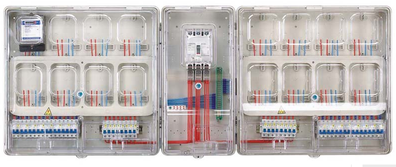 DX-L-1601A-Single-phase 16 user meter box(WITH MASTER BOX)